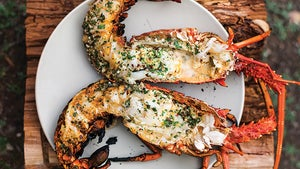 Grilled Lobster with Garlic-Parsley Butter