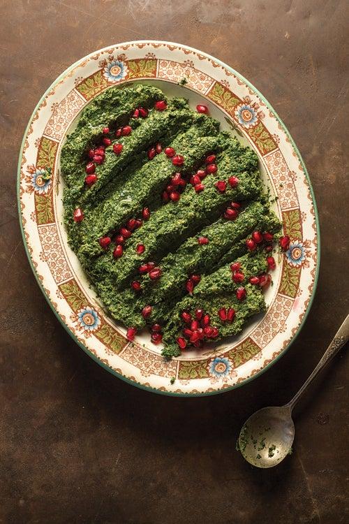 Spinach and Walnut Salad (Pkhali)