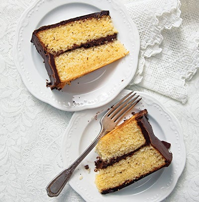 Yellow Cake with Fudge Icing
