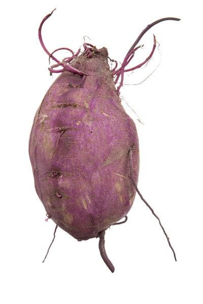 Speckled purple sweet potatoes