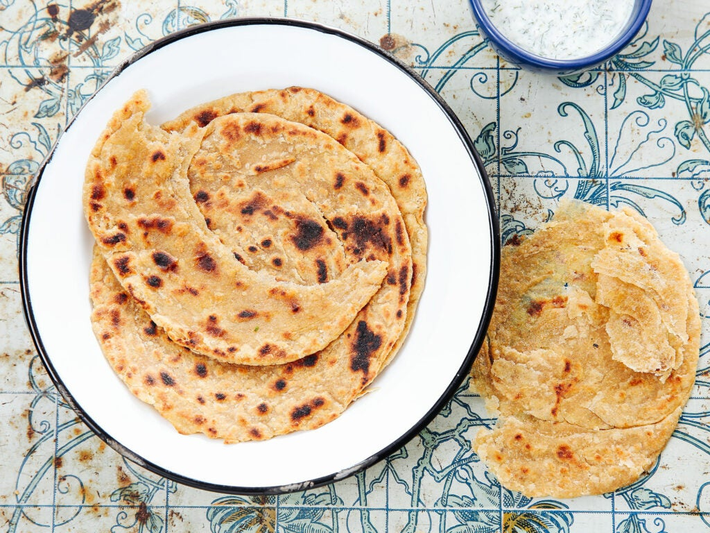 Paratha (Flaky Indian Flatbread)