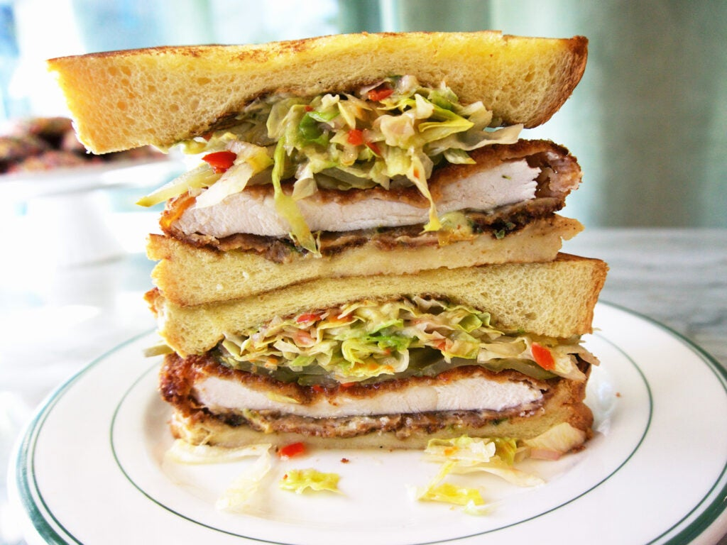 schnitzel sandwich Road Trip Food