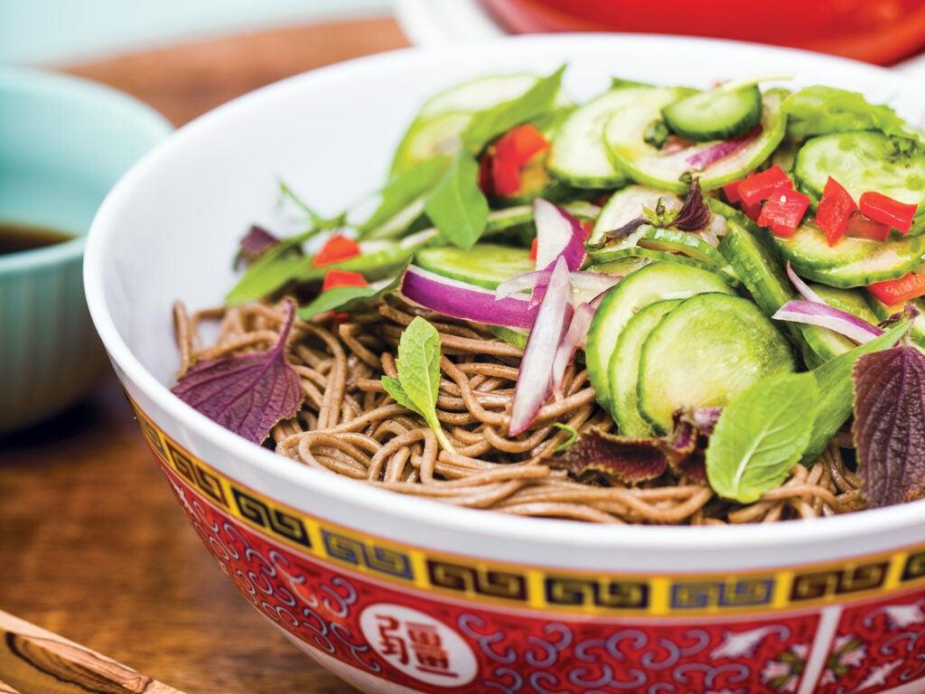 Houston, Chris Shepherd, Grilling, Soba Salad