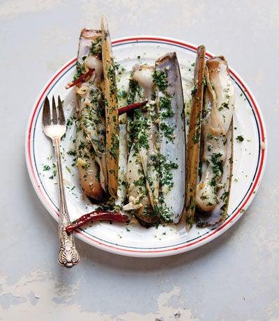 Razor Clams with Chiles and Garlic (Navajas al Ajillo)