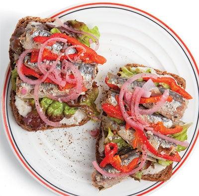 Sardine Sandwich with Horseradish Cream