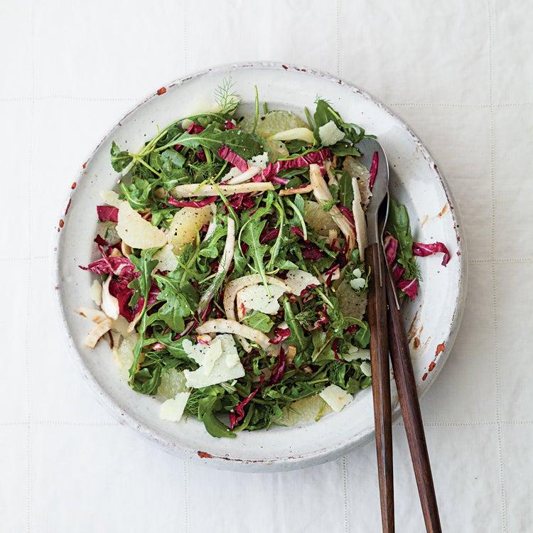 Tricolore Salad with Grapefruit Saba Vinaigrette