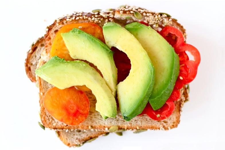 Tomato and Avocado Sandwich