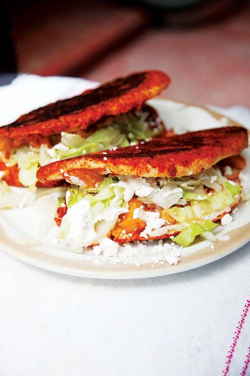 Salsa-Dipped Potato and Chorizo Sandwiches (Pambazos)