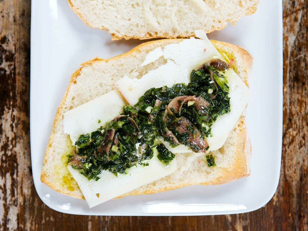 Pecorino, Parsley, and Anchovy Sandwiches Road Trip Food