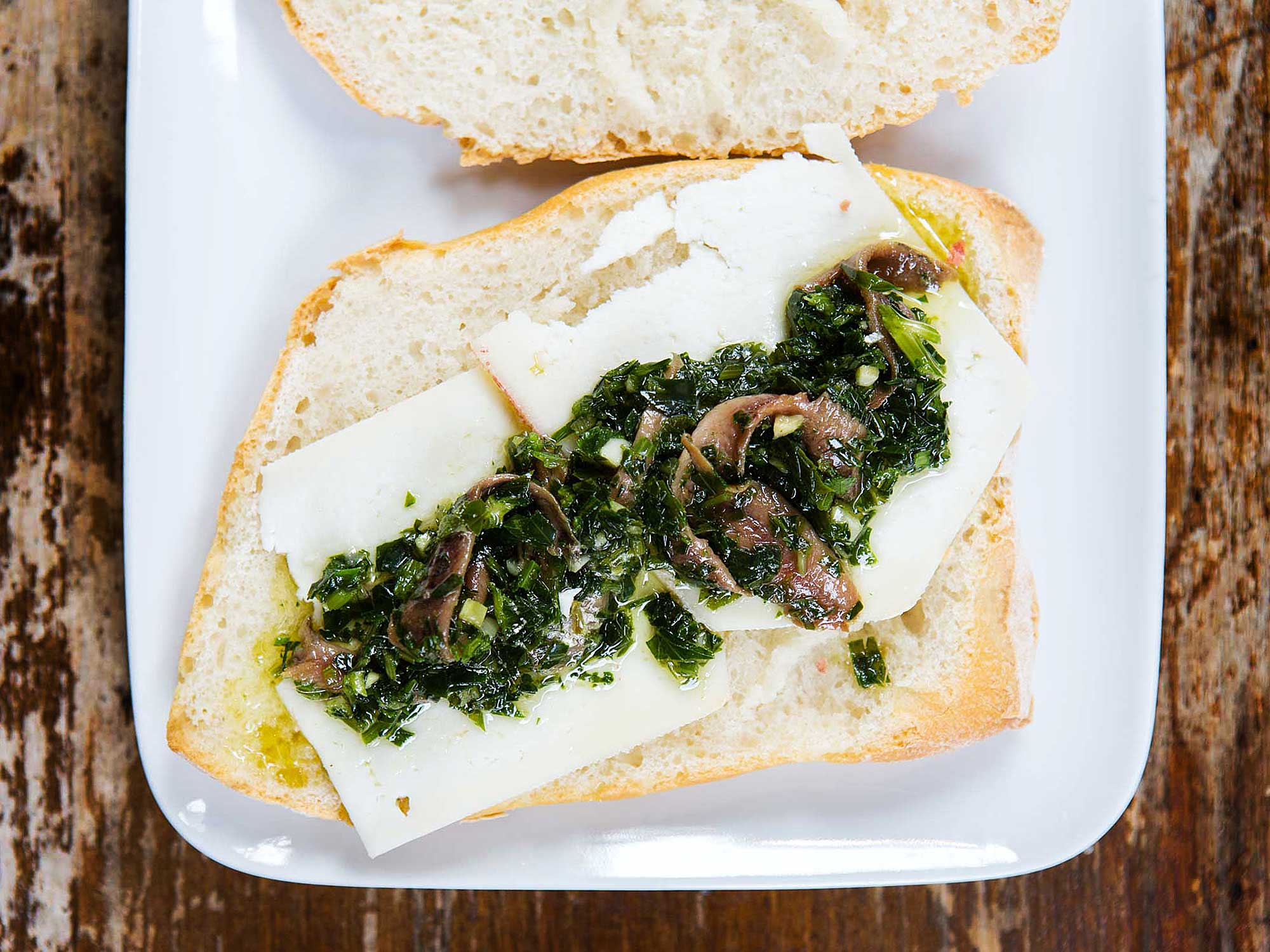 Pecorino, Parsley, and Anchovy Sandwiches