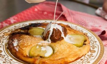 Giant Apple and Dulce de Leche Pancake