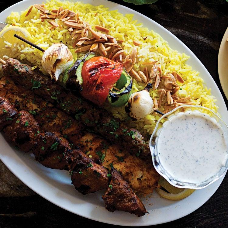 Spiced Chicken Kebabs with Garlic Yogurt Sauce (Shish Taouk)