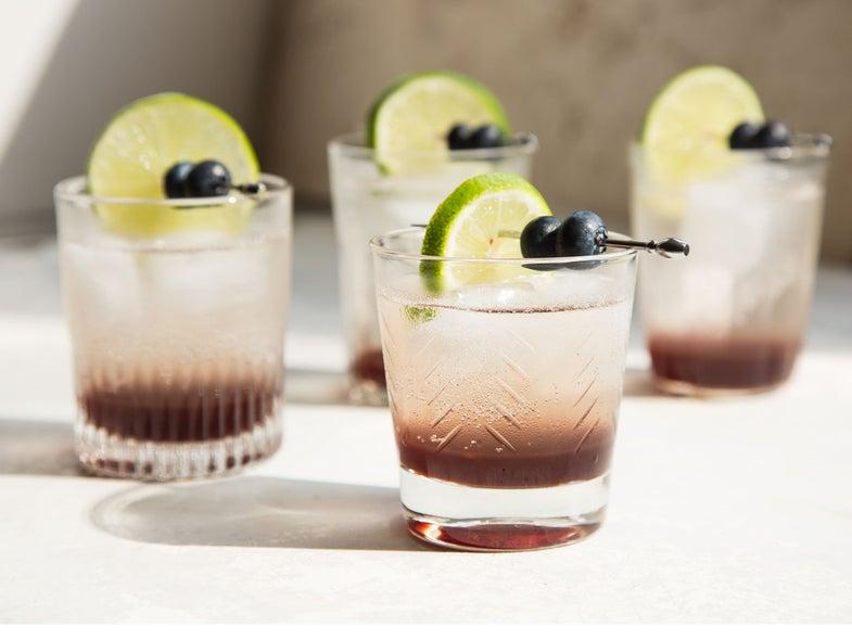 Vivian Howard Blueberry Sauce Cocktail