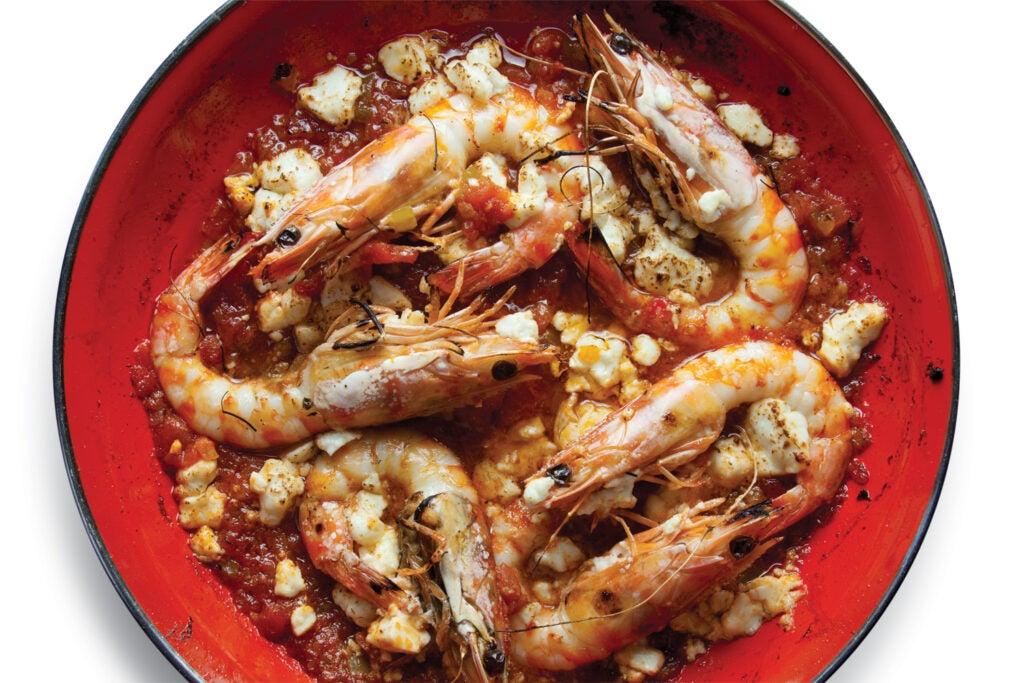 Shrimp with Tomato and Feta (Garides Saganaki)