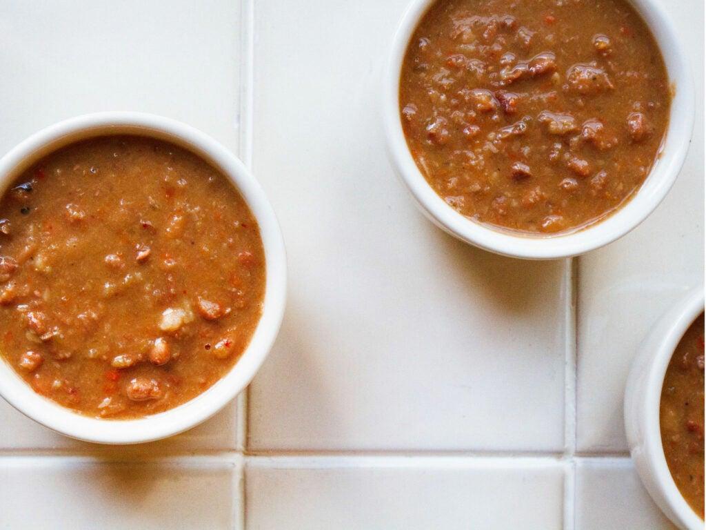 Fatback and Heirloom Bean Soup