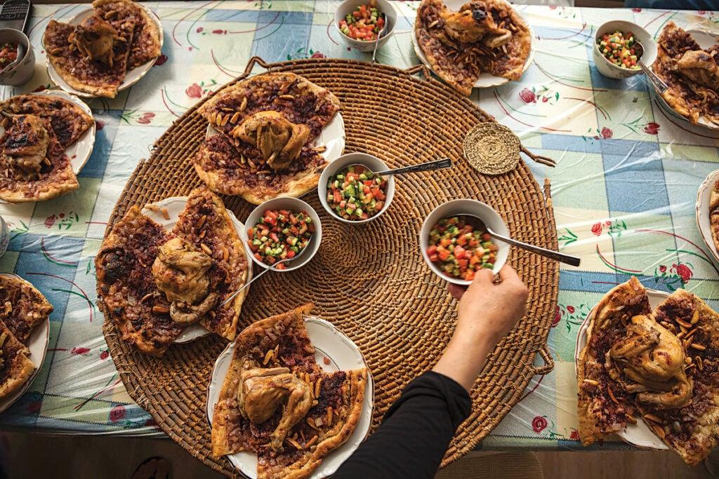 Roast Chicken with Sumac Flatbread