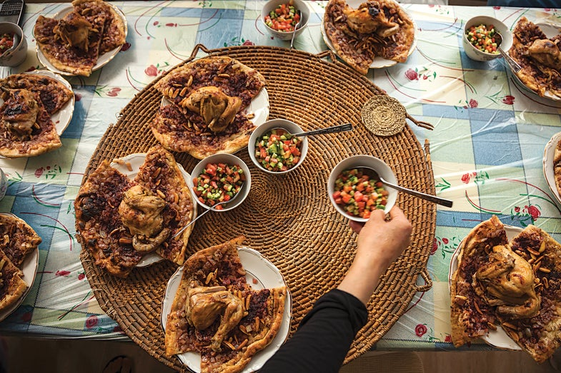 Roast Chicken with Sumac Flatbread (M'sakhan)