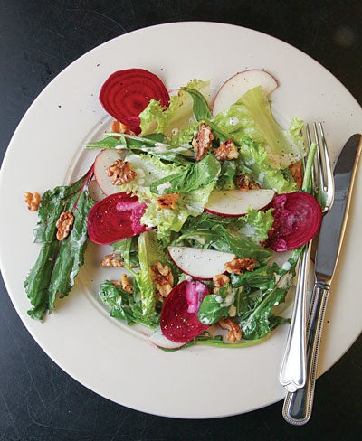 Winter Salad with Buttermilk Dressing