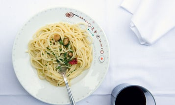 Spaghetti with Garlic, Olive Oil, and Chile