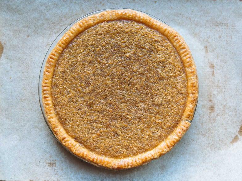 brown coconut pie