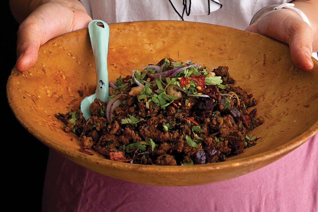 Thai Minced Pork Salad (Laab)