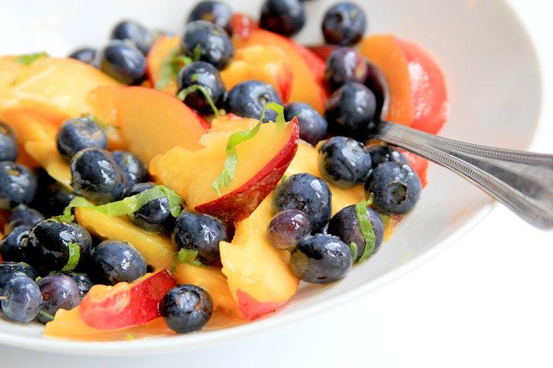 Blueberry, Nectarine and Shiso Salad