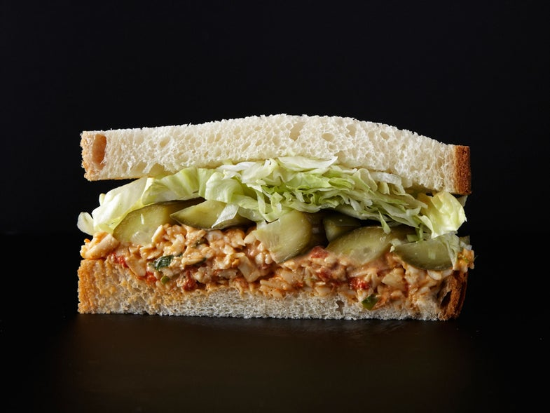 Pimento Cheese Sandwich with Homemade Pickles