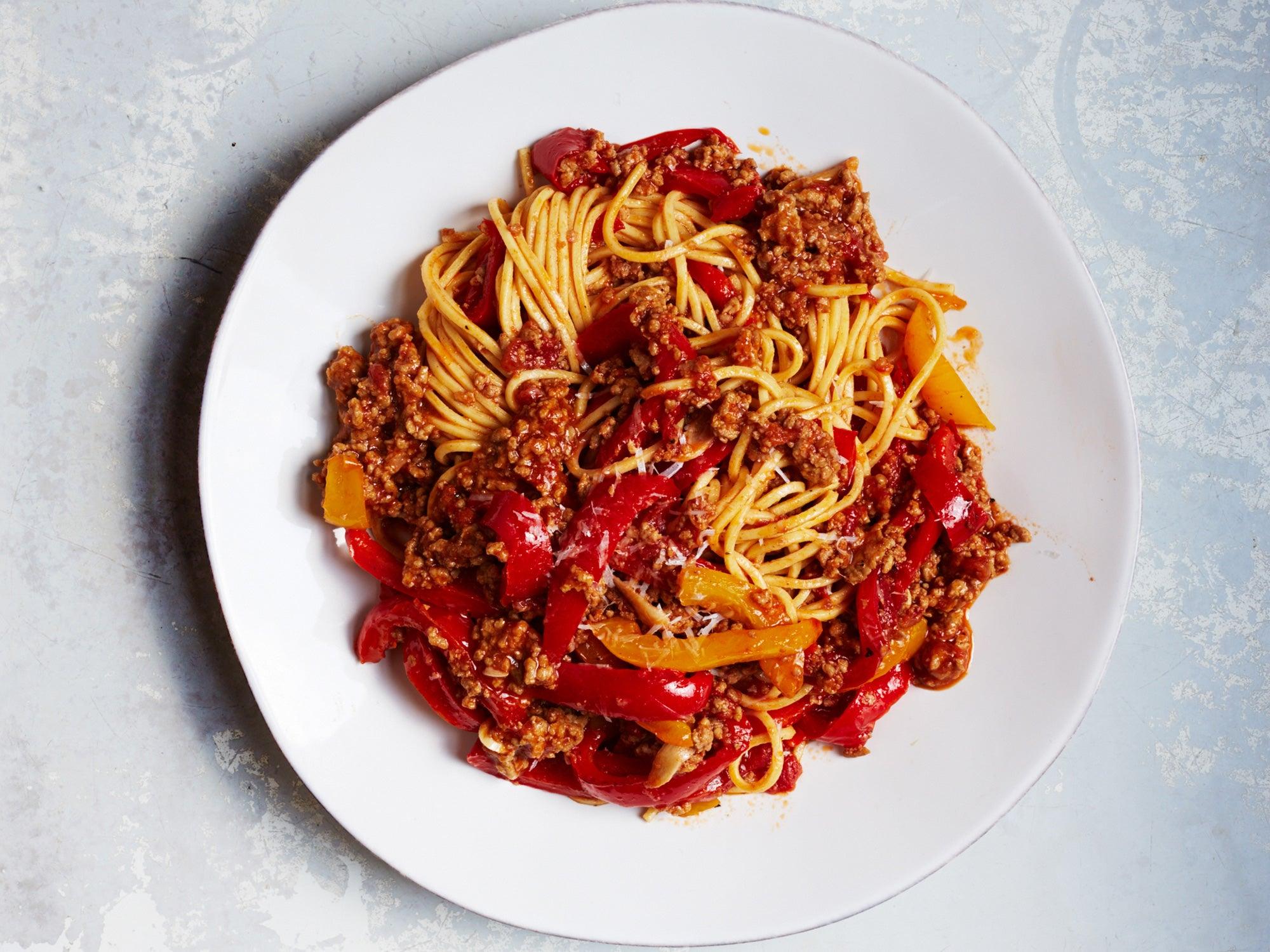 Spaghetti alla Chitarra with Lamb and Sweet Pepper Ragù