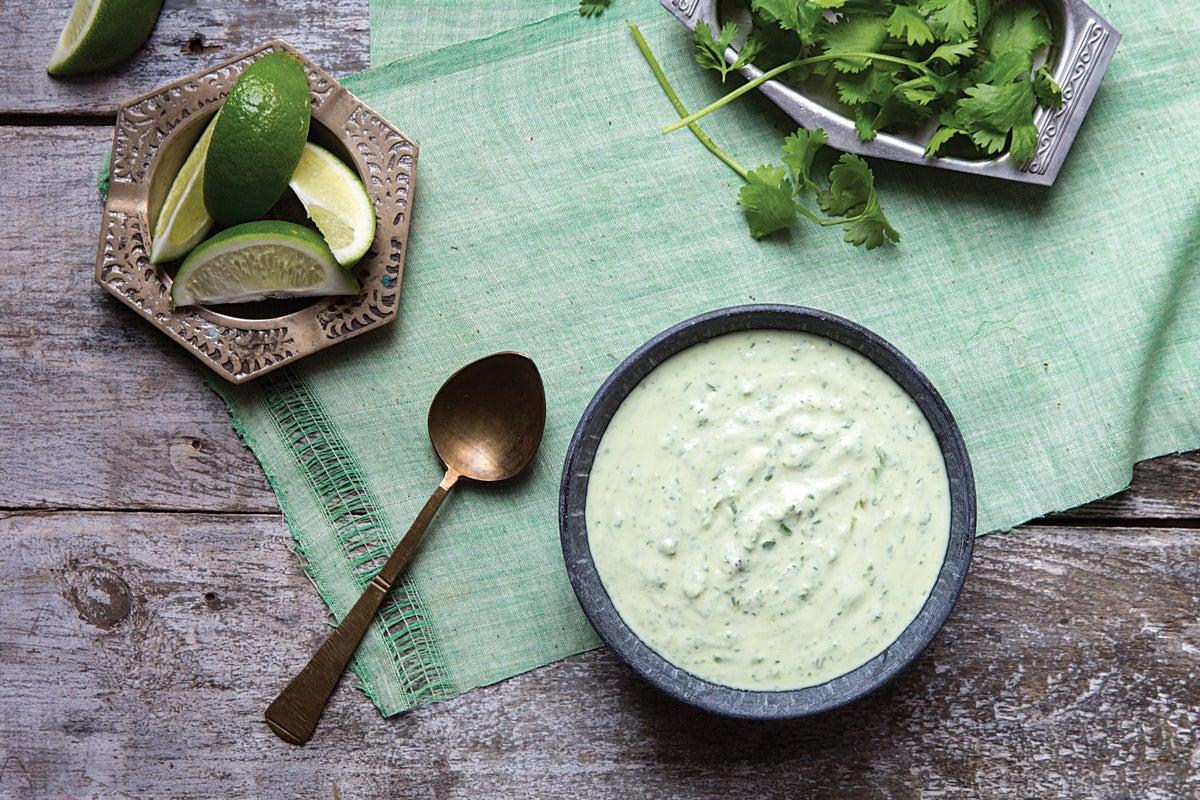 Cilantro Yogurt Chutney