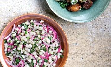 Cucumber, Pear, and Sumac-Onion Salad