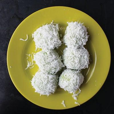 Onde-Onde (Pandan, Palm Sugar, and Coconut Dumplings)