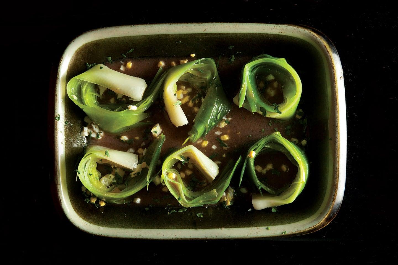 Marinated Leeks with Herbs (Poireaux Vinaigrette)