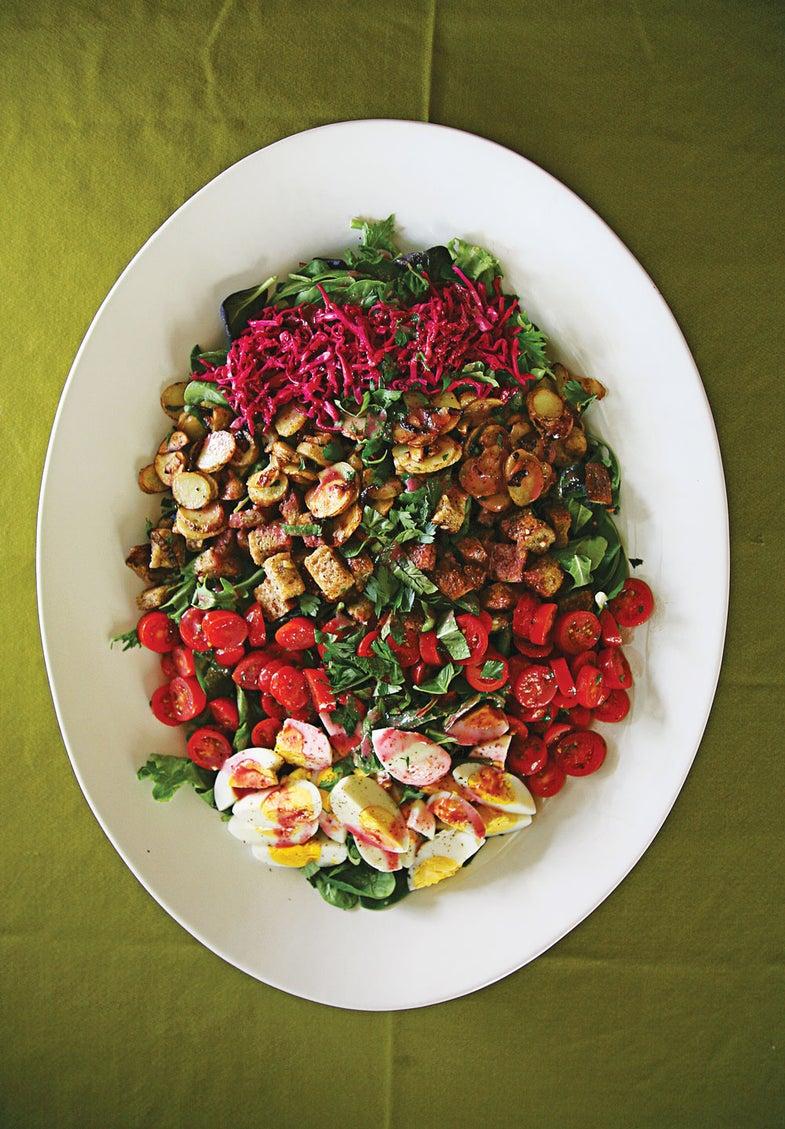 Farmer's Salad with Beet Vinaigrette