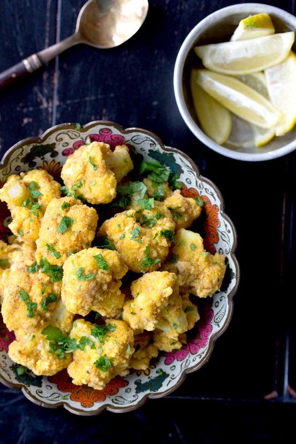 Lemony Fried Cauliflower