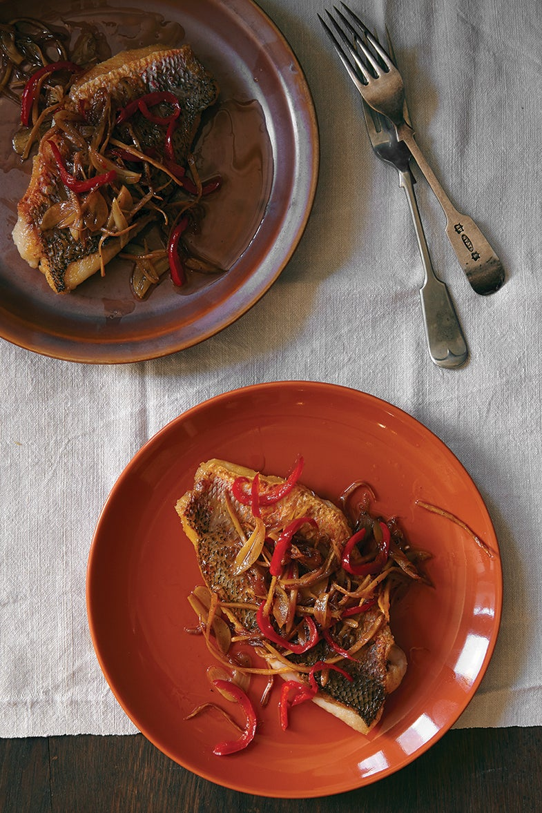 Malaysian Pan-Seared Snapper with Garlic and Chiles (Chuan-Chuan)