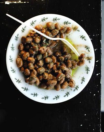 Garlic and Dill Fava Bean Salad (Bagula)