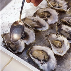 Roasted Oysters in White Wine
