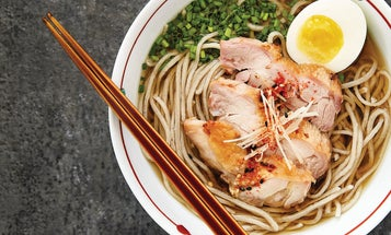 Hot Soba with Chicken and Egg