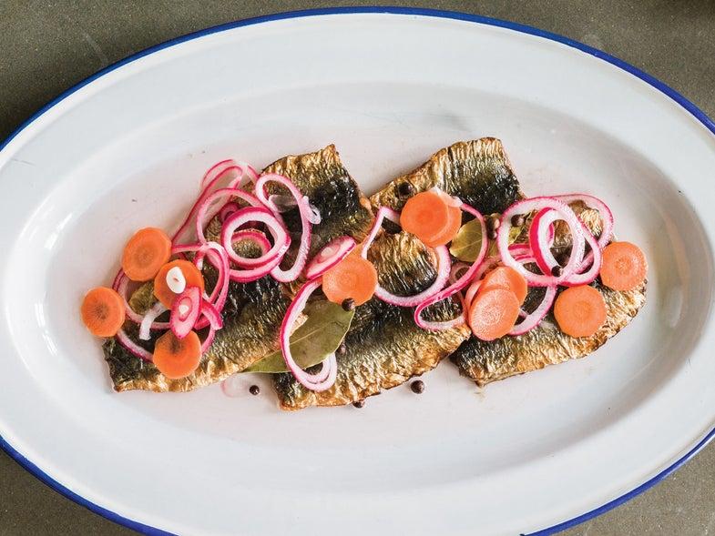 Sweden, recipe, Magnus Nilsson, fried pickled herring, pickling liquor