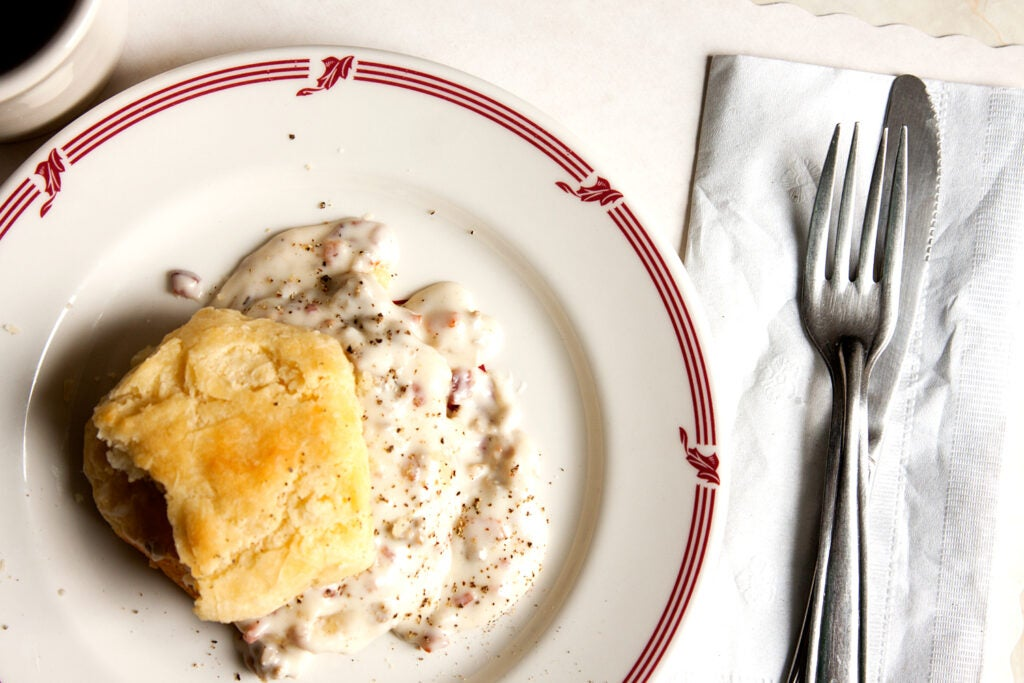 Biscuits with Sawmill Gravy