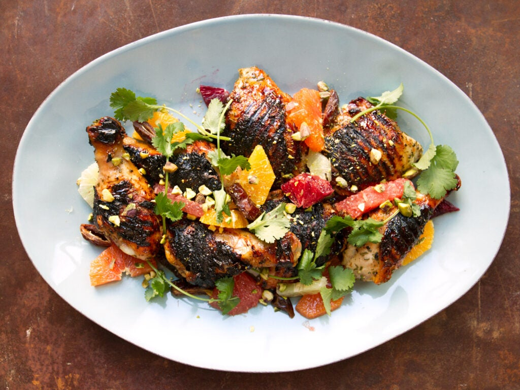 Honey-Grilled Chicken with Citrus Salad
