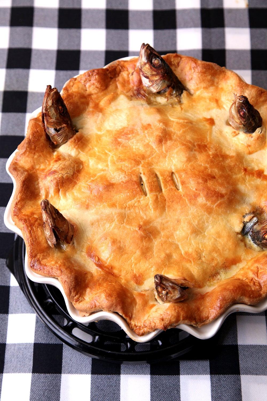 Stargazy Pie (English Sardine Pie)