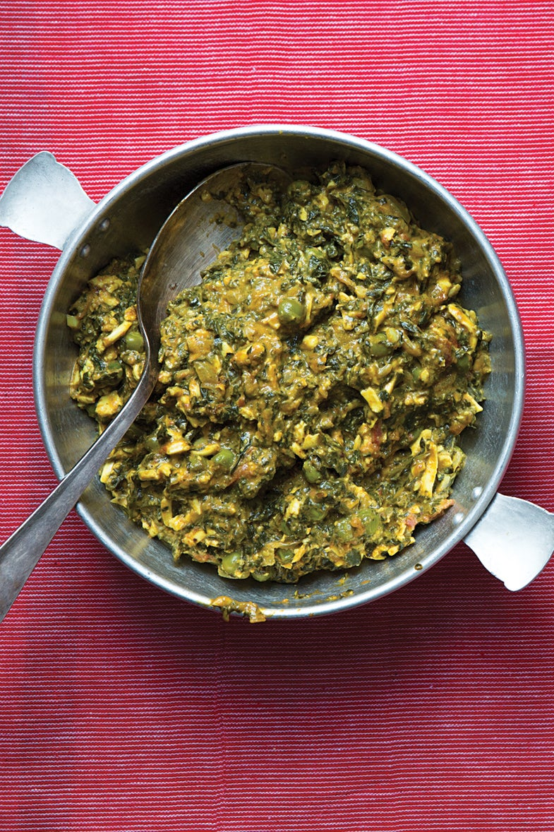 Creamy Fenugreek and Spinach with Cheese (Methi Malai Paneer)
