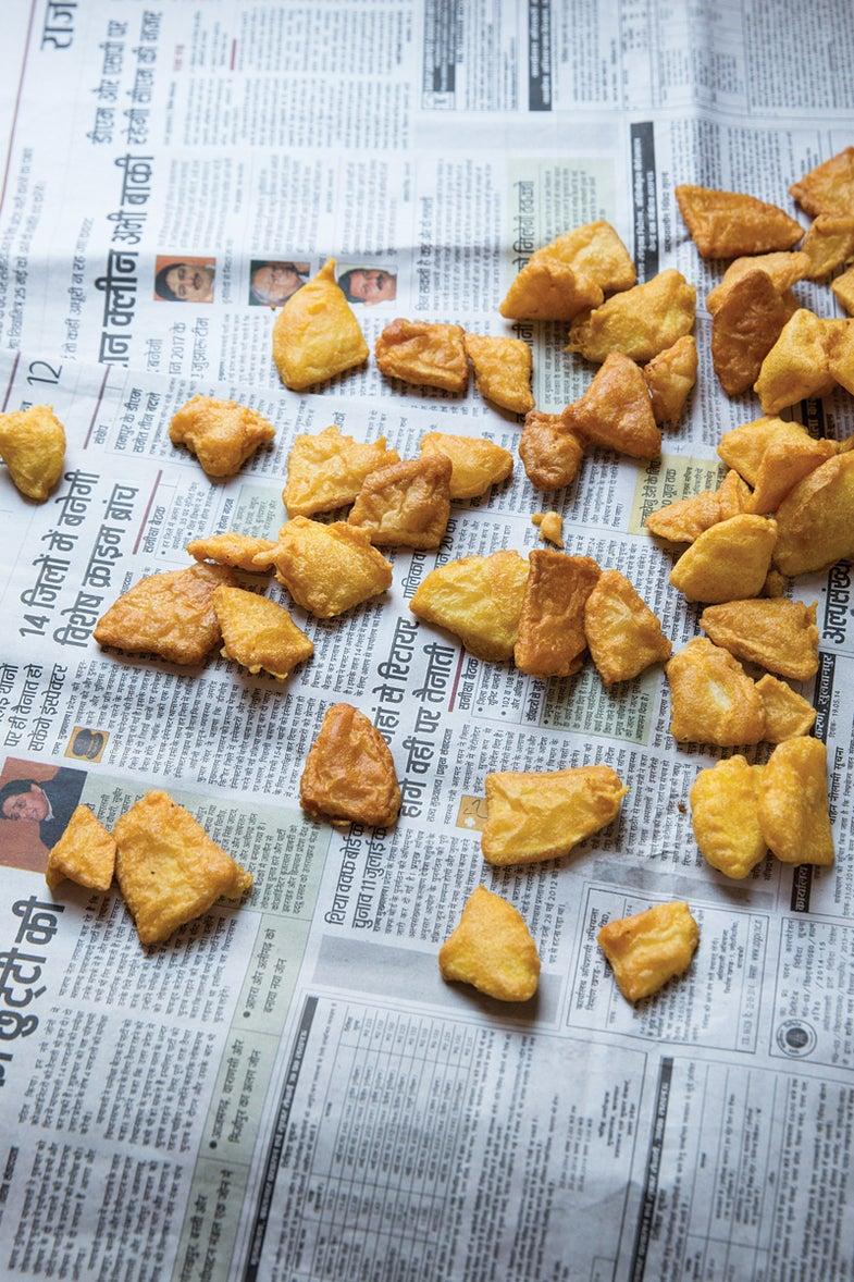Fried Chickpea-Battered Potatoes (Bhajiya)