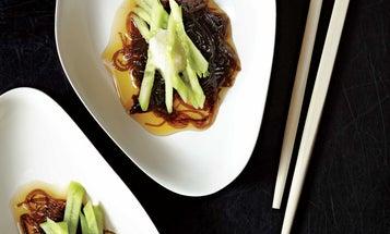 Marinated Mozuku Seaweed with Cucumber