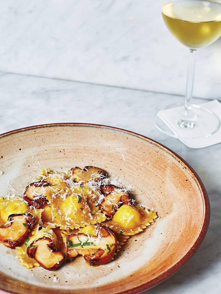 Vegetarian Potato and Cheese Tortelli with Porcini Mushrooms