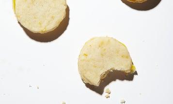 Meyer Lemon Shortbread Cookie Sandwiches