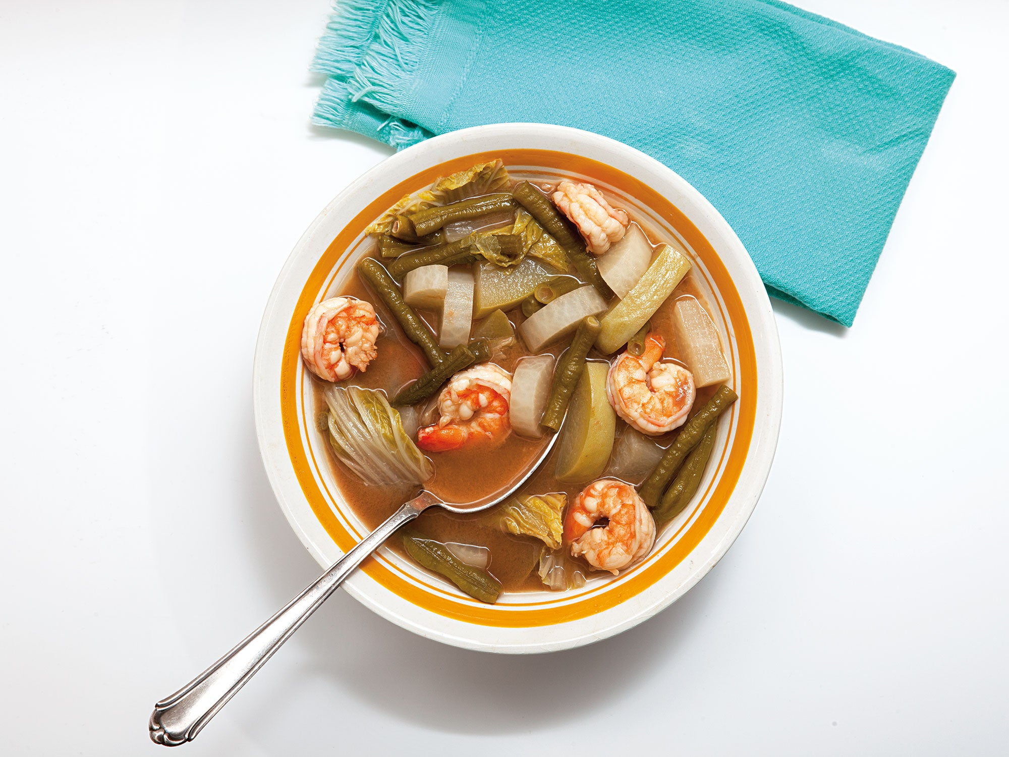 Sour Curry Soup with Shrimp