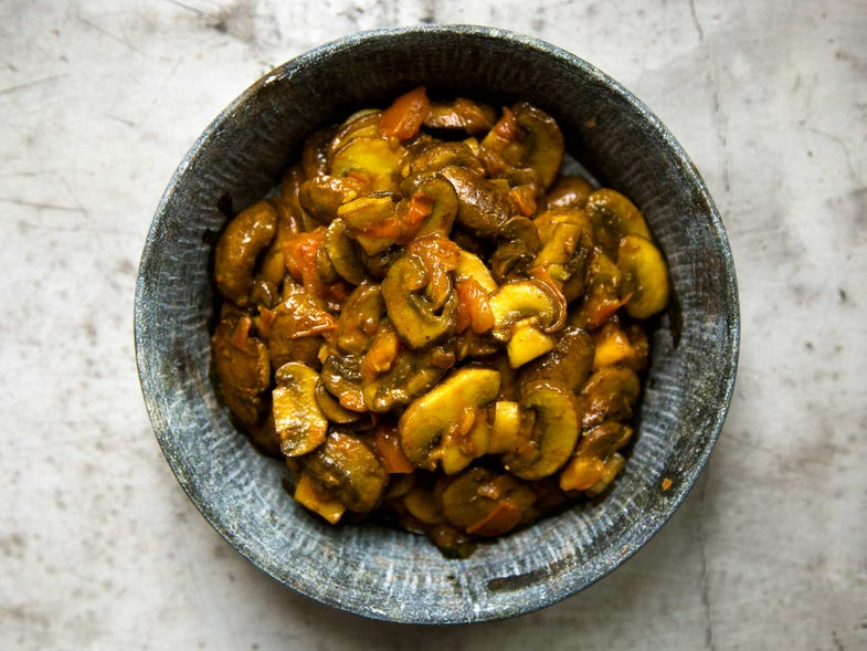 Mushrooms with Fennel and Ginger