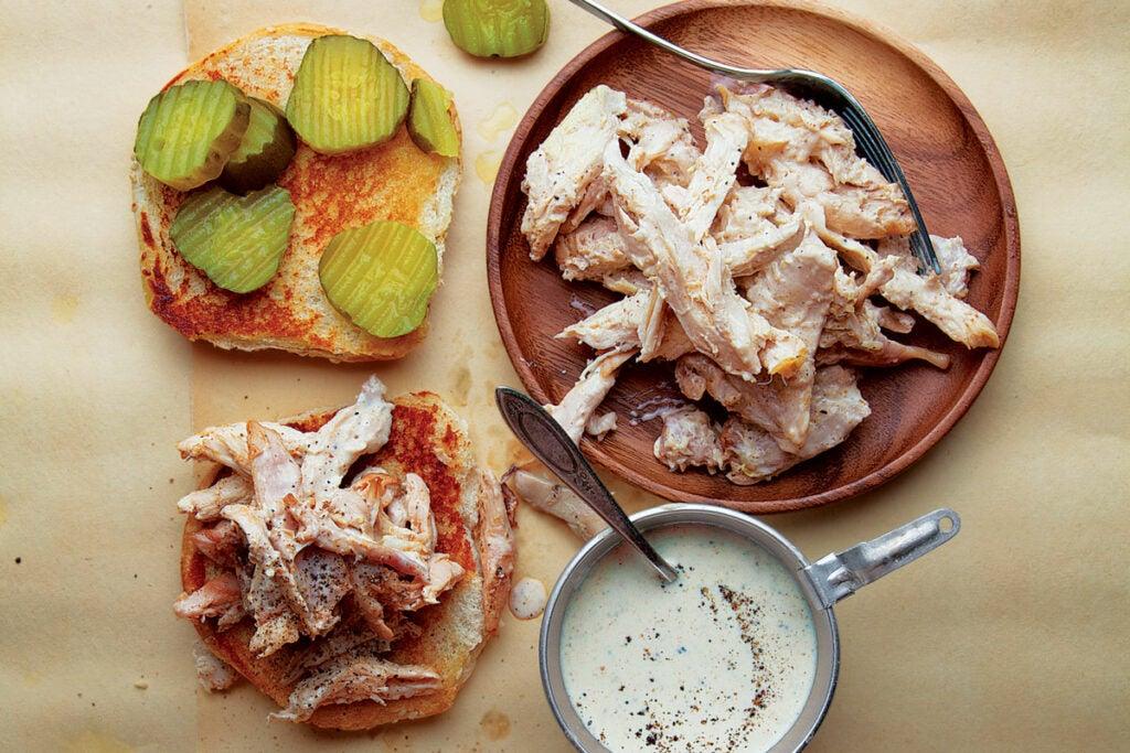 Alabama-Style Chicken Sandwiches with White Sauce